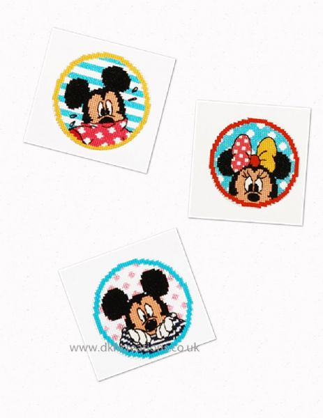 Disney Mickey And Minnie Mouse Greetings Cards Cross Stitch Kit